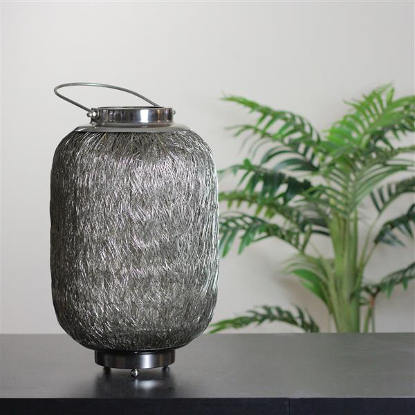 Northlight Beach Day Large Wire Woven Hurricane Pillar Candle Holder