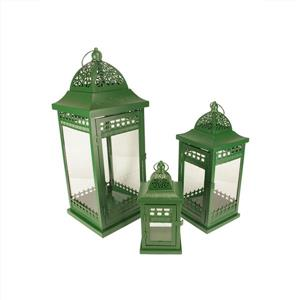 Northlight Getaway Ornate Pillar Candle Holder Lanterns - Set of 3