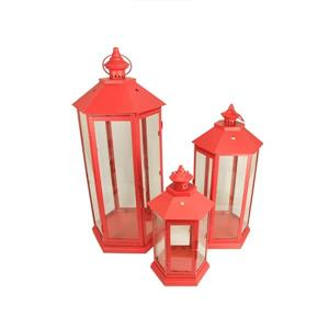 Northlight Traditional Style Pillar Candle Holder Lanterns- Set of 3
