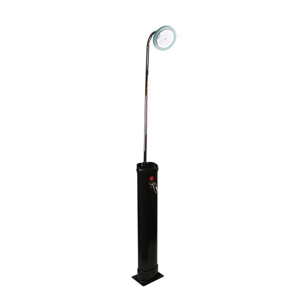 "Northlight LED Lighted Black Solar-Powered Poolside Shower Station- 85"""