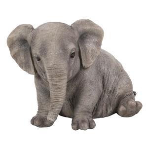 "Statue de jardin, éléphant grassouillet assis, 4,8"""