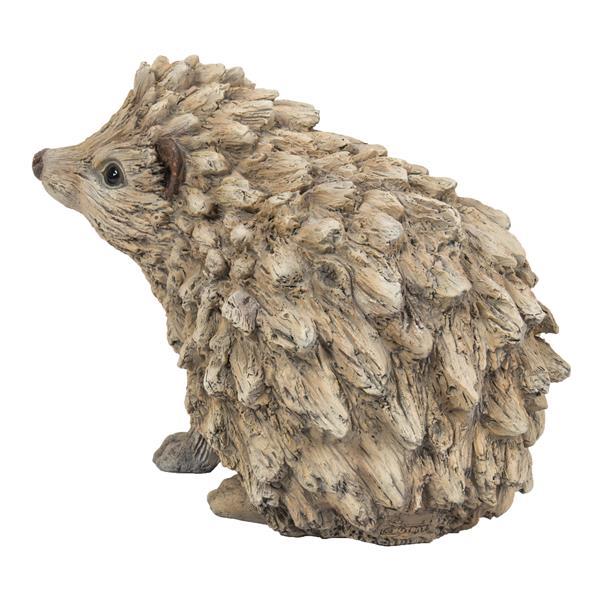 "Hi-Line Gift Decorative Garden Statue - Hedgehog Driftwood Look - 6.26"""