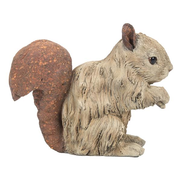"Hi-Line Gift Decorative Garden Statue - Squirrel Driftwood Look - 6.3"""