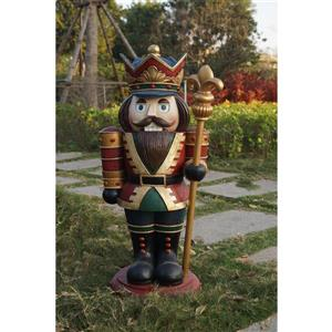 Hi-Line Gift Nutcracker Figurine - Wood - 30.5""