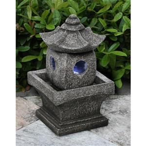 "Fontaine de jardin en polyrésine, pagode, 11"""