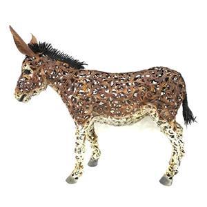 "Hi-Line Gift Decorative Garden Statue - Metal Donkey  - 24"""