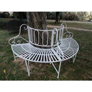 Hi-Line Gift Metal Tree Garden Bench - White - 69""