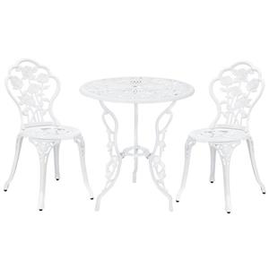 Hi-Line Gift Bistro Set - 3 Pieces - Soft Pink White