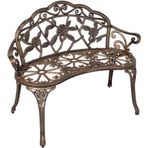 Hi-Line Gift Metal Garden Bench - Light Bronze