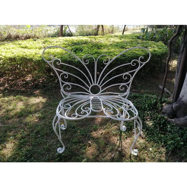 Hi-Line Gift Metal Garden Butterfly Chair - White