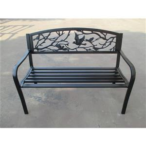 Hi-Line Gift Garden Bench - Bird - Black, 48.4""