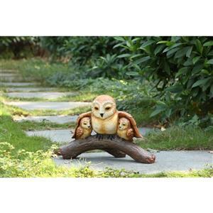 "Hi-Line Gift Decorative Garden Statue - Owl Family - 11.5"""