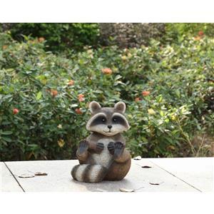 """Statue de jardin, raton laveur assis, 11,25"""""""