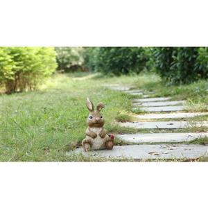 """Statue de jardin, lapin assis avec coccinelle, 12"""""""