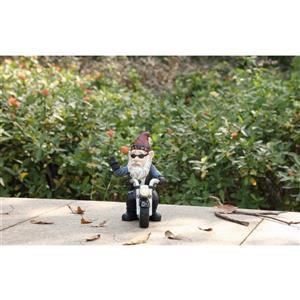 """Statue de jardin, nain en moto, 9,75"""""""