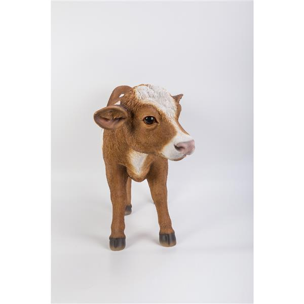 "Hi-Line Gift Decorative Garden Statue - Brown Cow - 16.5"""