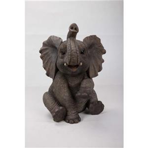 "Hi-Line Gift Decorative Garden Statue - Baby Elephant- 15.5"""