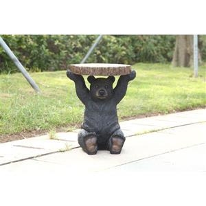 "Hi-Line Gift Black Bear Sitting Plant Stand - Black - 20"""