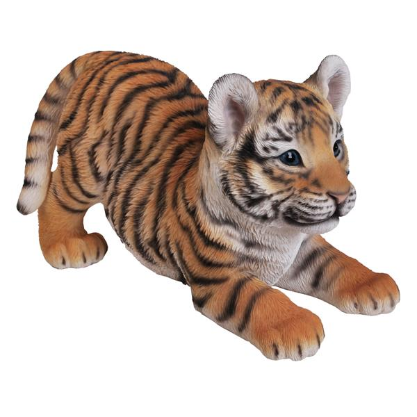 """Hi-Line Gift Decorative Garden Statue - Playing Baby Tiger - 7"""""""