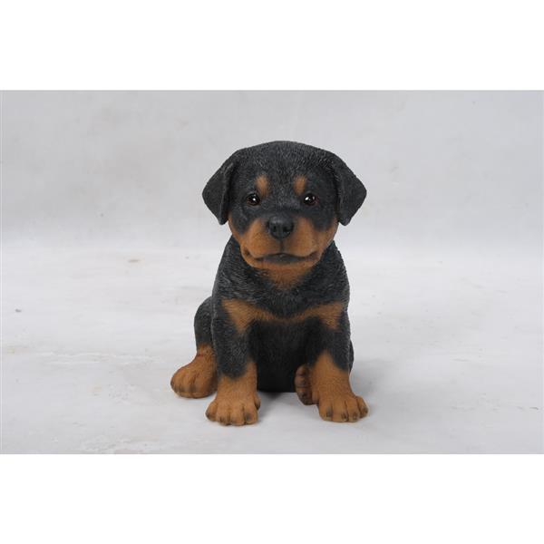 """Hi-Line Gift Decorative Garden Statue - Rottweiler Puppy - 6.5"""""""