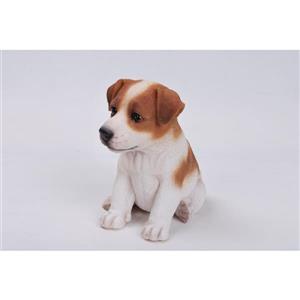 "Hi-Line Gift Decorative Garden Statue - Jack Russell Puppy - 6.5"""