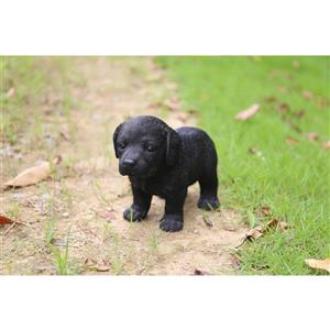 "Hi-Line Gift Decorative Garden Statue - Labrador Puppy - Black - 6"""