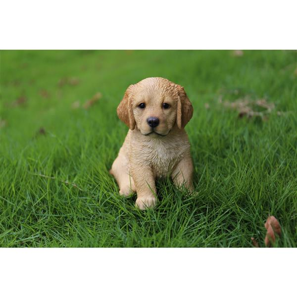 """Hi-Line Gift Decorative Garden Statue - Golden Retriever Puppy - 6.5"""""""
