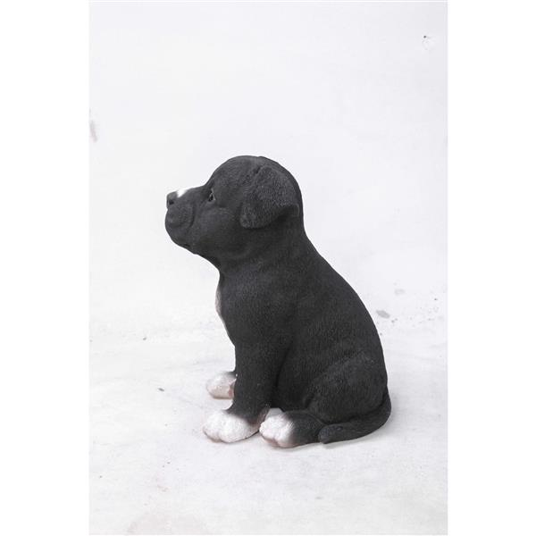 "Hi-Line Gift Decorative Garden Statue - Staffordshire Pitbull Puppy - 6"""