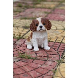 """Hi-Line Gift Decorative Garden Statue - King Charles Puppy - 6"""""""