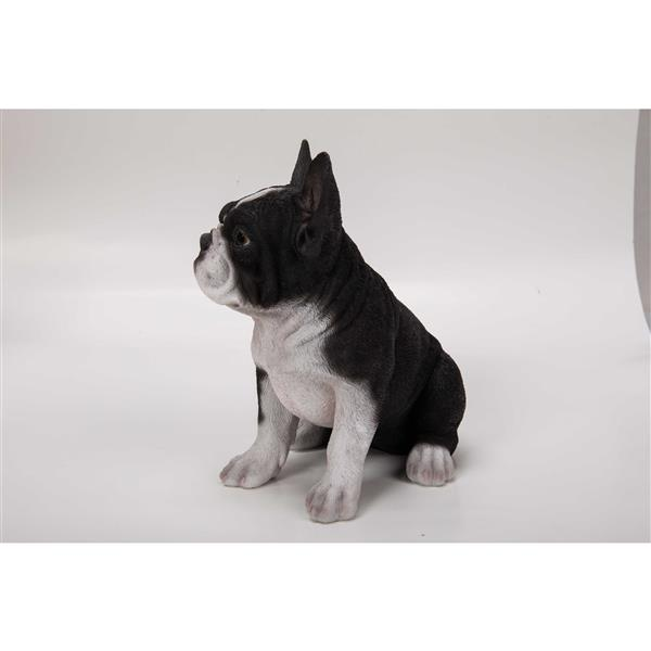 "Hi-Line Gift Decorative Garden Statue - French Bulldog Puppy - 7"""