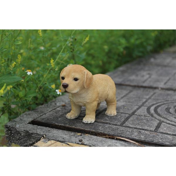 """Hi-Line Gift Decorative Garden Statue - Blond Labrador Puppy - 6"""""""