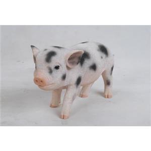 "Hi-Line Gift Decorative Garden Statue - Baby Pig With Black Spots - 5"""