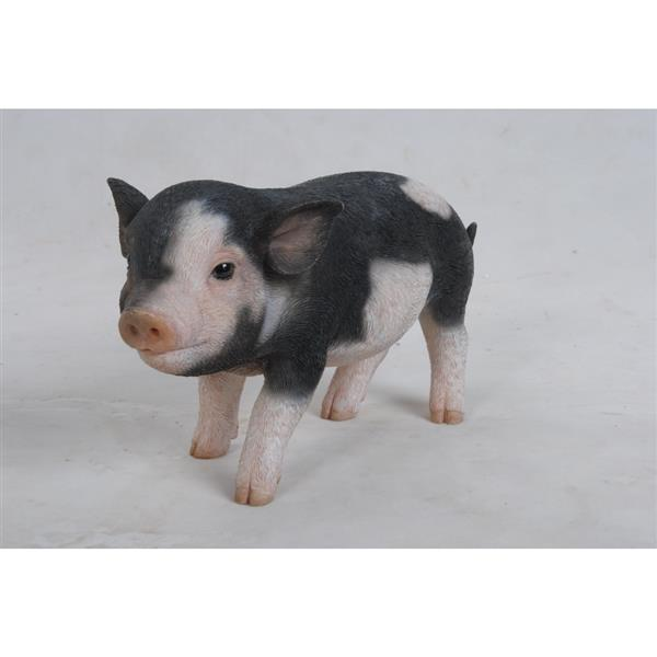 """Hi-Line Gift Decorative Garden Statue - Baby Pig - Dark Brown - 5"""""""
