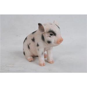 "Hi-Line Gift Decorative Garden Statue - Baby Pig With Black Spots - 6"""