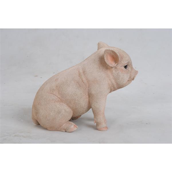 """Hi-Line Gift Decorative Garden Statue - Sitting Baby Pig - 6"""""""