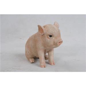 """Statue de jardin, bébé cochon assis, 6"""""""