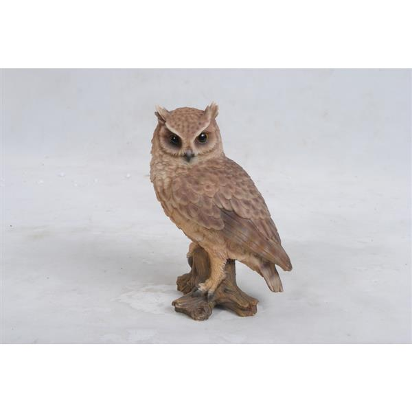 "Hi-Line Gift Decorative Garden Statue - Small Screech Owl On Stump - 7"""