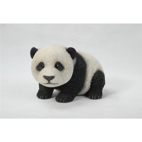 "Hi-Line Gift Decorative Garden Statue - Crawling Baby Panda - 6.5"""