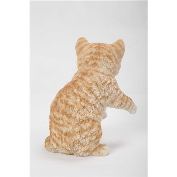 "Hi-Line Gift Decorative Garden Statue - Red Tabby Kitten - 8"""