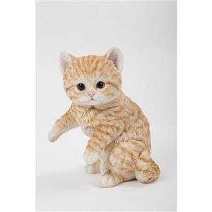 """Statue de jardin, chaton tigré roux, 8"""""""