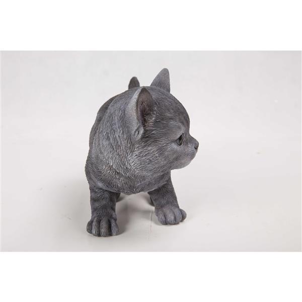 "Hi-Line Gift Decorative Garden Statue - Russian Blue Kitten - 5.75"""