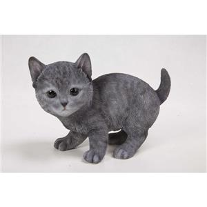 Hi-Line Gift Decorative Garden Statue - Russian Blue Kitten - 5.75""