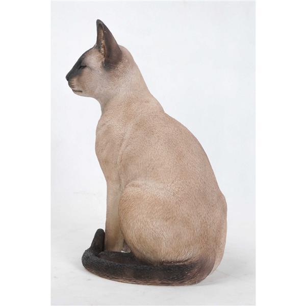 "Hi-Line Gift Decorative Garden Statue - Siamese Cat - 13.5"""