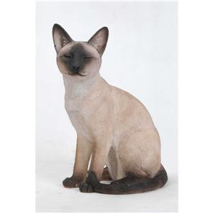 Hi-Line Gift Decorative Garden Statue - Siamese Cat - 13.5""