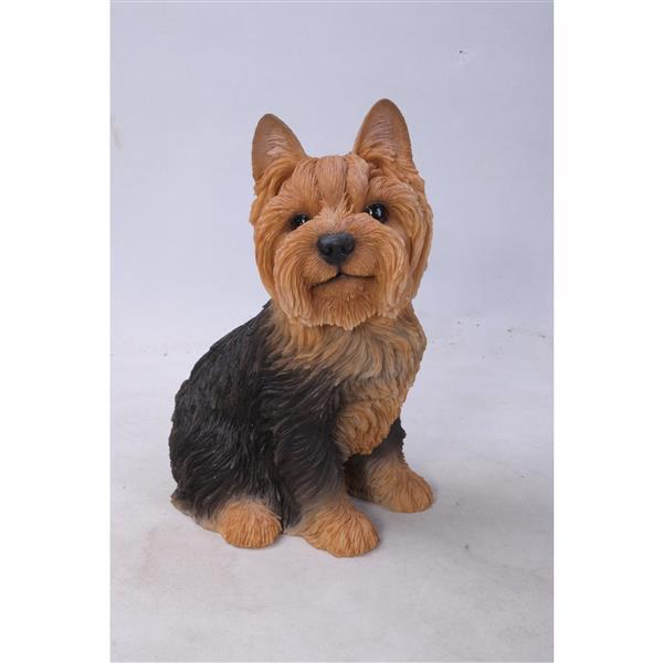 "Hi-Line Gift Decorative Garden Statue - Yorkshire Terrier - 9.25"""