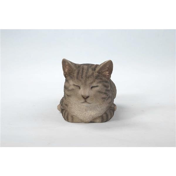 Bothering Sleeping Grey Cat Mini Figure