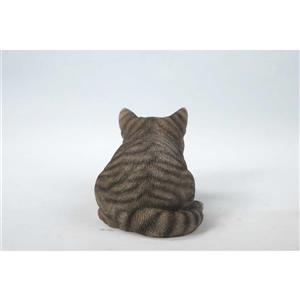 "Hi-Line Gift Decorative Garden Statue - Sleeping Grey Tabby Cat - 5"""