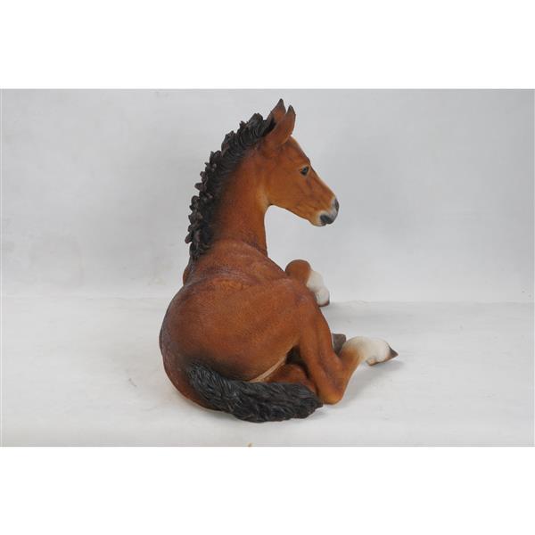 "Hi-Line Gift Decorative Garden Statue - Large Horse Colt - Brown - 16.75"""