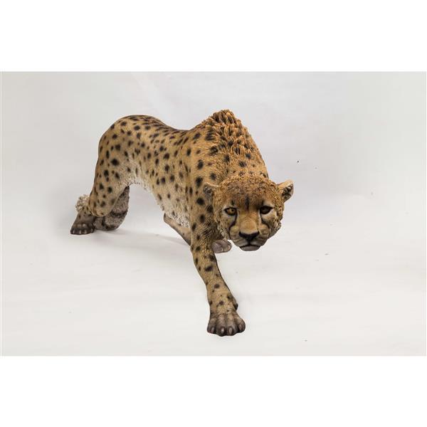 "Hi-Line Gift Decorative Garden Statue - Prowling Cheetah - 19.5"""