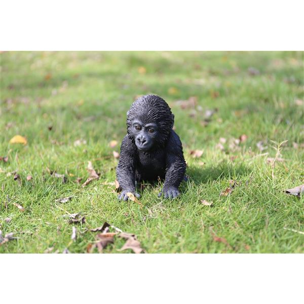 """Hi-Line Gift Decorative Garden Statue - Baby Gorilla - 5.5"""""""